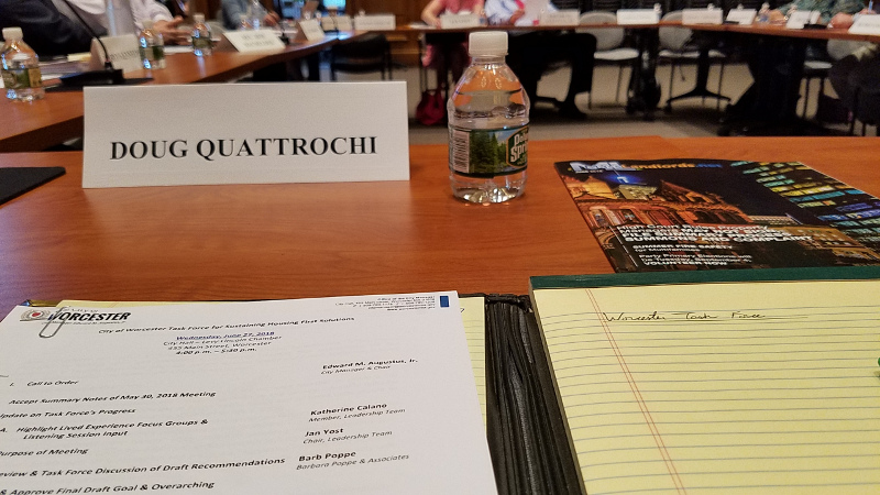 Worcester Task Force for Sustaining Housing First Solutions, Doug Quattrochi, June 27, 2018